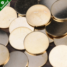 14&18mm brass Unplated Flat Round Circle Blank Stamping Charms,stamping blanks tags,various sizes