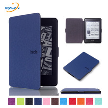 PU Leather Ultra thin Case For Amazon Kindle Paperwhite 123 smart Magnetic Design Cover for Kindle 958 6th generation+free pen(China)