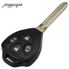 jingyuqin Remote Blank Key Shell fit for Toyota Corolla Alphard Camry TOY43 4 Button Fob Case(China)