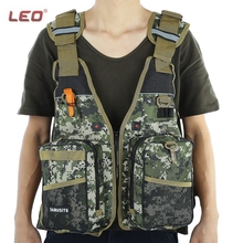 LEO Digital Aid Life Jacket Unisex Camouflage Aid Sailing Fishing Kayak Canoeing Life Jacket Vest Comfortable 2016 NEW(China)