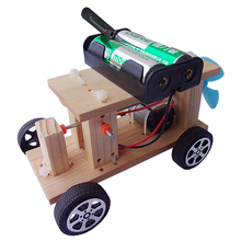 New Children's electric car toys Puzzle Science model Small technology production DIY material set Parent-child toys
