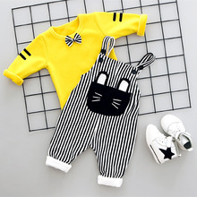 Baby Boy Clothes Winter Long Sleeve T-shirt + Pants 2 PCS Sport Suit Toddler Kids Clothes for Girls Boys vestido infantil 0-36M(China)