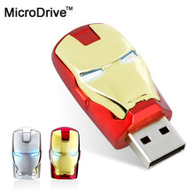Real capacity Avengers Iron Man Metal usb flash drive 4GB 8GB 16GB 32GB 64GB USB 2.0 Flash Memory Stick Drive pendrive(China)