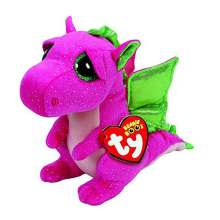 "Pyoopeo Ty Beanie Boos Buddy Darla the Dragon 6"" 16cm Beanie Baby Plush Stuffed Collectible Soft Doll Toy"