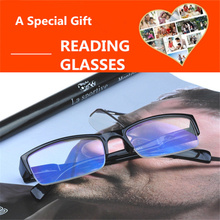 Half Frame Men Non spherical Reading Glasses Women Men Film Blue Elderly Eye Glasses Slim Presbyopia Round Reading glasses Men's
