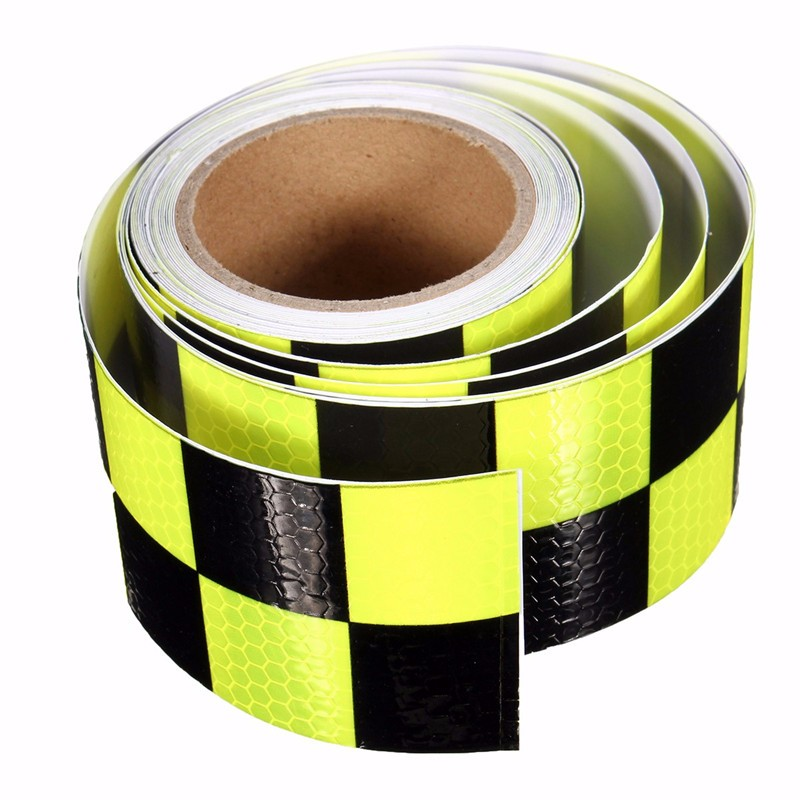 Hot Sale Yellow&amp;Black PVC Reflective Tape Reflective Safety Warning Tape Good Viscous Waterproof Long Service Life<br><br>Aliexpress