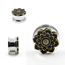new Style stainless steel silver ears plug tunnel piercing body jewelry stretchers sell by pair 8mm to 20mm Ear Tunnels  Plugs