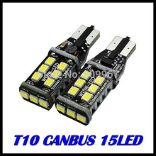 2x T10 canbus led W16W 921 LED CANBUS T10 15led 2835smd Chip LED High Power Light Bulbs Compatible with T10 W5W canbus LED Bulbs