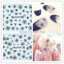2016 NEWEST HBJY085-096 3D seal nail art stickers decor decals popular export world product warp
