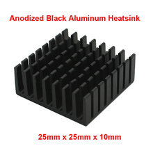 5pcs/lot Black Aluminum Fin Heatsink 25x25x10mm Electronic Cooling Radiator Heat sink for CPU,GPU Graphics Video Card dissipator