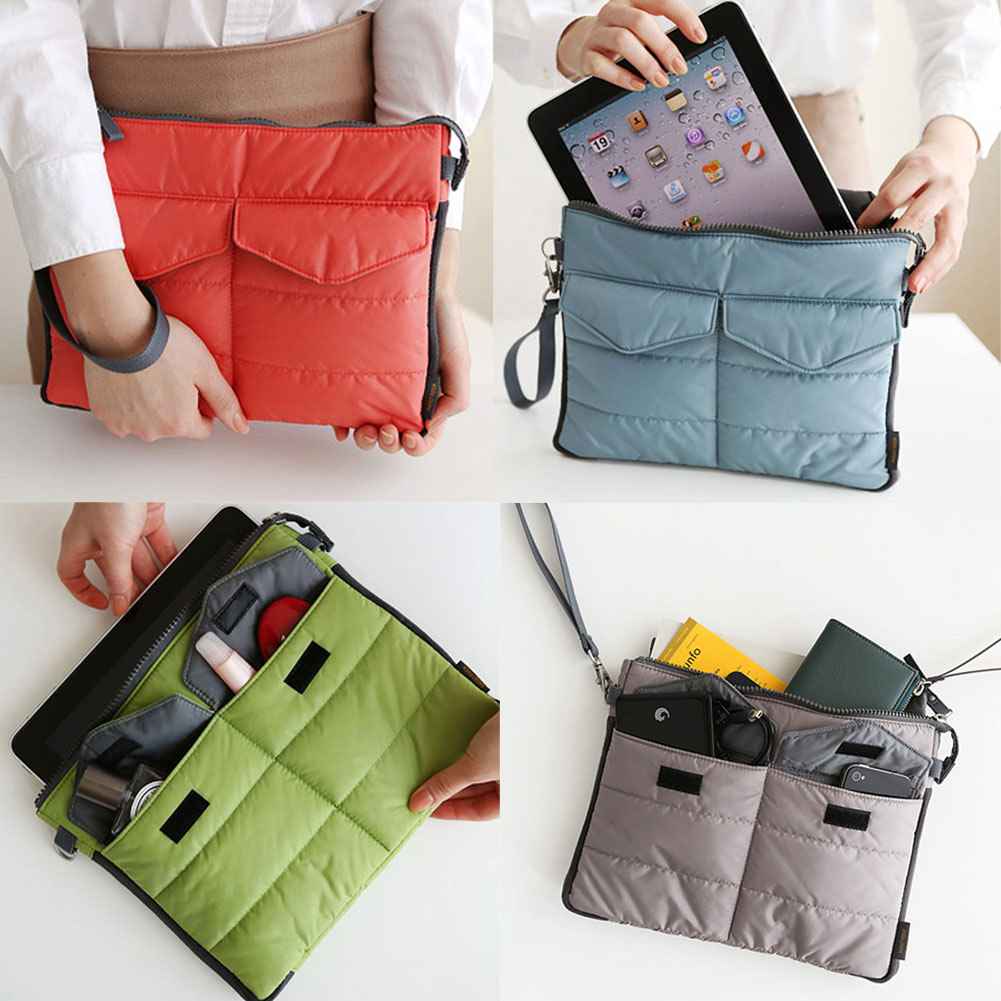 Useful Organizer Sleeve Pouch Storage iPad Bag Travel Ipad Mini Soft With Handles(China (Mainland))