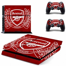New Famous Arsenal Football Team Ps4 Skin Sticker Decal For Sony Ps4 Playstation 4 Console + 2 Controllers Stickers