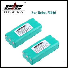2 PCS Eleoption 14.4V 2000mAh 2.0Ah Ni-MH Replacement Vacuum Battery for Libero 0606004, M606 14.4 Volt