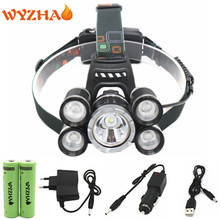 NEW Head Lamp 16000 Lumens T6 LED Head light Hunting Lamp mining lamp Fishing Lights Headlight HeadLamp Including battery