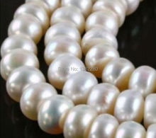 "! Beautiful 8x10mm white seawater pearl Loose Beads 15 "" DIY Necklace bracelet jewelry production JT5038(China)"