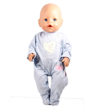 Promotional Items ! Directly Facotry Price 43cm Baby Born Zapf Doll Long Sleeves Jumpsuit Best Gift For Girl Baby