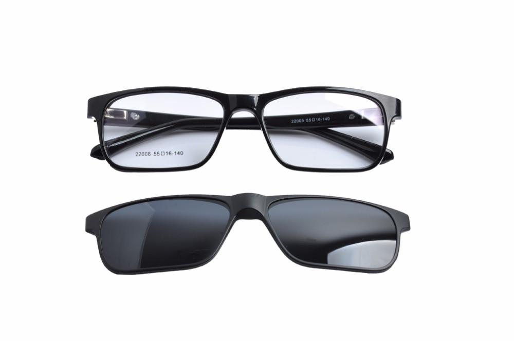 EV 2017 Clip-on Sunglasses Fashion Polarized Men's Mirror Sun Glasses Yellow lens Night View Clipon TR90 Sunglasses EV1428