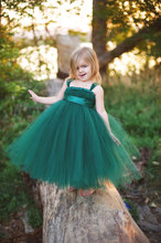 Beautiful Girls Long Tutus Dress Kids Fluffy Tulle Princess Wedding Dress Ball Gown with Satin Bow Waist Children Evening Dress