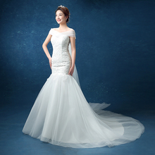 Real Photo Customized New Wedding Dress 2017 Sexy Simple Mermaid Country Western Brand Style Lace Bridal Gown vestido de noiva