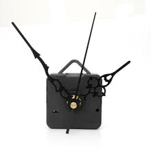Retro Silent Mode DIY Black Quartz Wall Clock Movement Mechanism Parts Repair Tool Black Hand Work Long Spindle Kit with Washer
