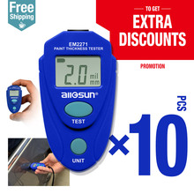 10pcs/lot Digital Thickness Gauge Car Painting Thickness Thickness Meter 0-80mil 0.1MM EM2271(China)