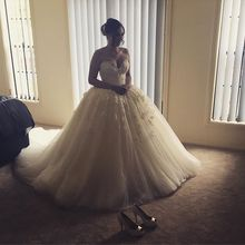 Vintage Ball Gown Princess Wedding Dress 2017 Vestido De Noiva Sweetheart Beaded French Lace Corset Back Long Train Wedding Gown