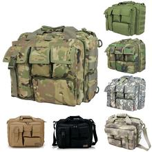 Men'S Tactical Military Messenger Army Bags  Men Shoulder Bags Molle Outdoor Sport Laptop Camera Handbags Black