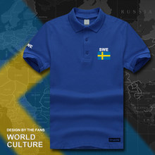 Sweden Sverige Swedish Swede polo shirts men short sleeve white brands printed for country 2017 cotton nation team flag new SE(China)