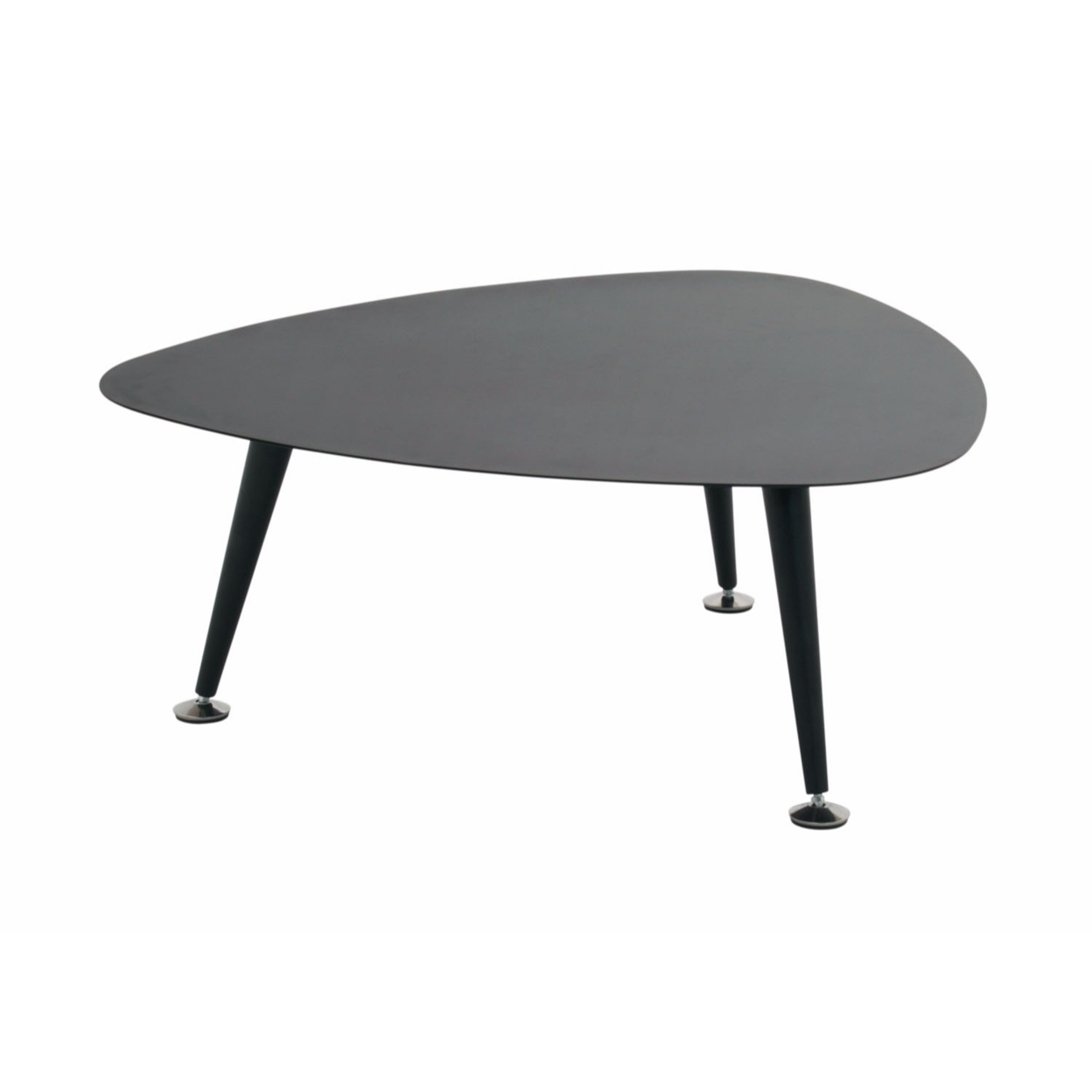 Offex Trilateral Accent Table 29, Black