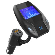 Car MP3 Player Automotive Bluetooth USB QC 3.0 Fast Charge Support TF USB Disk FM Modulator Car Kit Dual USB Car-Charger(China)
