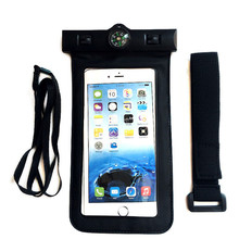 Universal Phone Bags Pouch with Compass Lanyard Waterproof Cases Covers for iPhone 6 6S 7 Plus for Xiaomi for Samsung(China)