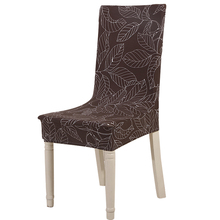Floral print Home Dining Chair Cover elastic Chair Covers Spandex elastic cloth Universal Stretch(China)