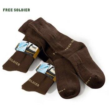 FREE SOLDIER спортивные мужские воздухопроницаемые быстросохнущие носки нормализуют потоотделение, изготовлены из 100% полиэстрового волокна coolmax Локальная доставка Ло