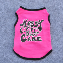 New Fashion Summer Cute Dog Pet Vest Puppy T Shirt English Words printing doggy cloth clothing dog Sportswear soccer jersey(China)