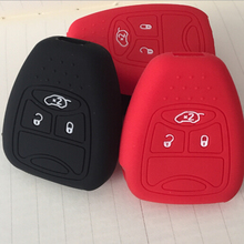 3 Button Silicone Skin Cover for CHRYSLER 300 PT Cruiser Sebring Dodge Caliber Nitro Jeep Compass Liberty Remote Key Case Fob