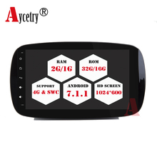 Aycetry!For Mercedes Benz Smart 2016 quad core Android 7.1 car dvd player GPS Radio Stereo audio 3G/4G WIFI mirror link free map