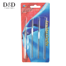 D&D 4 Pcs Strong Stainless Steel Crochet Hook Knitting Needles Sewing Tools Yarn Stitches 4 Size Crochet(China)