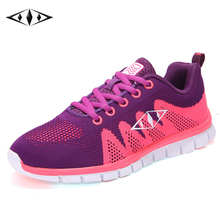 Indie Pop Nice Women Sneakers Autumn Spring Outdoor New Running Shoes Comfortable Sport Breathable Fly Wire Air Mesh fb010-3(China)