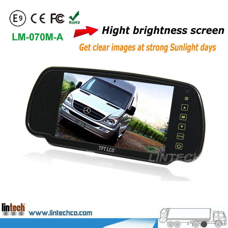7 inch High brightness Rear view mirror car monitor for Van/camper/RV<br><br>Aliexpress