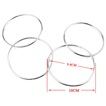 King Magic 1 Set Of 4 Metal Chinese Linking Rings Magic Tricks Kit Connected Magician Trick(China)