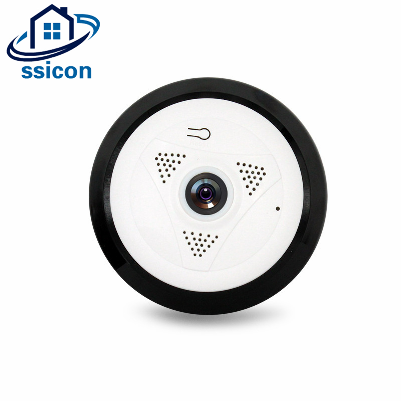 960P Panoramic Fisheye Wifi VR Camera 1.3MP 360 Degree Home Security Mini Camera Support 128G TF Card<br>