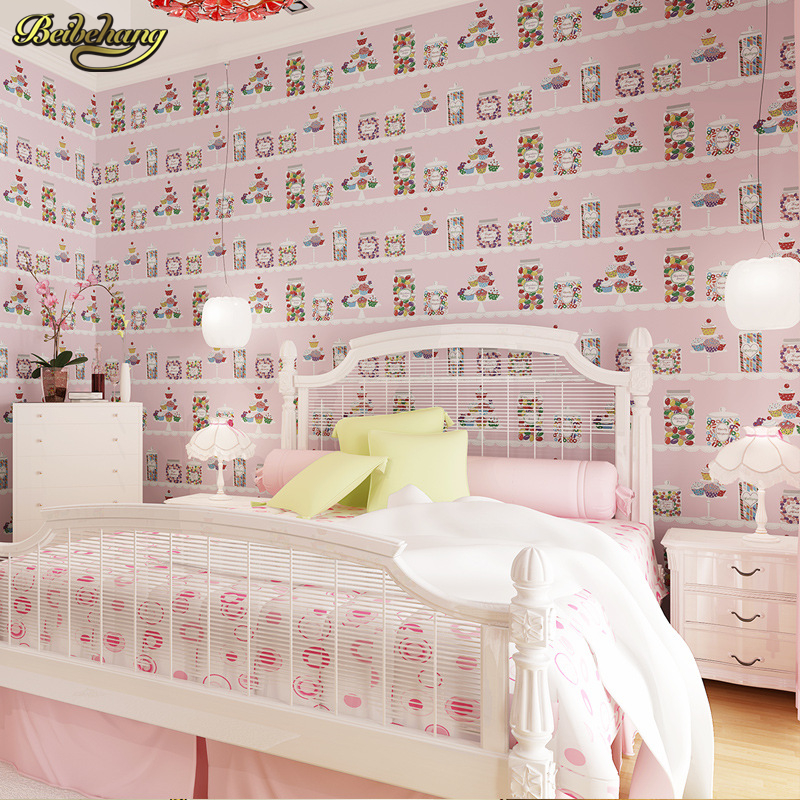 beibehang Cartoon child care boys and girls childrens room environmental protection without formaldehyde cloth wallpaper<br>