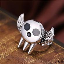 J-J Store Anime SOUL EATER Rings for women Angel Wings Rotatable Punk ring 2017 New Design Fashion Jewelry Accessories Gift