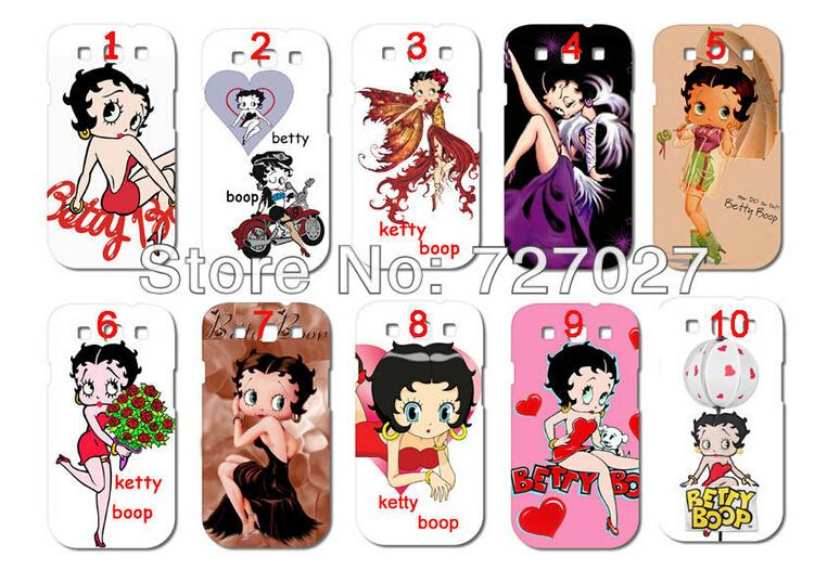 2016 New Arrival betty boop 10 design white hard cases for samsung galaxy s3 i9300 free shipping