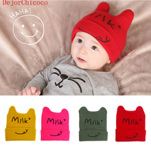 Heat 0-3 Year Baby Hat Cute Autumn Winter Cotton Beanie Child Cap Infant Girl And Boys Knitted Hats Kids Hats & Caps DejorChicoc