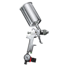 New Lowest Price 1.4mm 1L HVLP Gravity Feed Spray Gun Auto Paint Primer Metal Flake with Regulator High Quality(China)