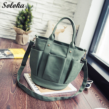 2017 New Fashion Korean Shoulder Bags Female Canvas Crossbody Bag Casual Handbags Ladies Irregular Pocket Messenger Bags