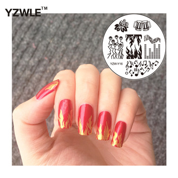 YZWLE 1 Pc Fashion Round Flower Design Nail Art Image Stamp Stamping Plates Manicure Template DIY Polish Stencil Nail Tools