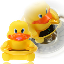 Cute 2 in 1 Yellow Duck Baby Infant Floating Bath Toy with LCD Screen Tub Water Thermometer Tester Toys(China)