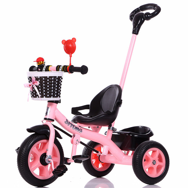 Triciclo para niño con asa de empuje